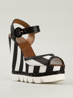 Striped Wedge Sandals by Dolce & Gabbana in Pretty Little Liars