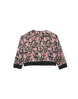 Floral Long Sleeve Blouse by MSGM in Steve Jobs