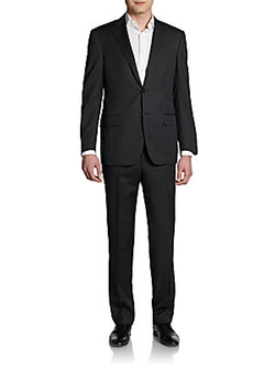 Wool Two-Button Suit by Saks Fifth Avenue in Elementary