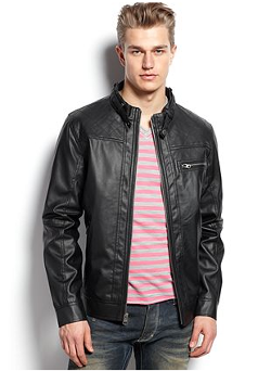 Faux Leather Moto Jacket by Buffalo David Bitton in Horrible Bosses 2