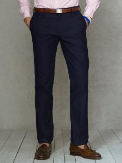 Straight Italian Cotton Pant by Polo Ralph Lauren in Addicted