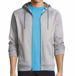 Crown Active Zip-Front Hoodie by Peter Millar in Animal Kingdom