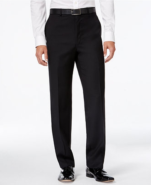 Solid Slim-Fit Tuxedo Pants by Calvin Klein in Joy