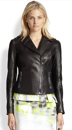 Friva Leather Jacket by Elie Tahari in The Mindy Project