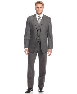 Grey Flannel Vested Slim-Fit Suit by Lauren Ralph Lauren in The Boy Next Door