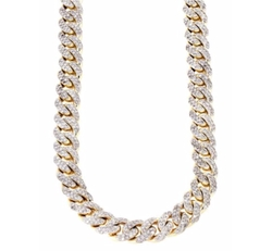 Iced Out Diamond Cuban Link Chain Necklace by Frost NYC in Empire