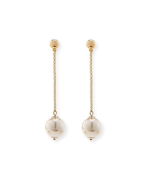 Sands Of Time Pendulum Pearly Drop Earrings by Lele Sadoughi in Suicide Squad