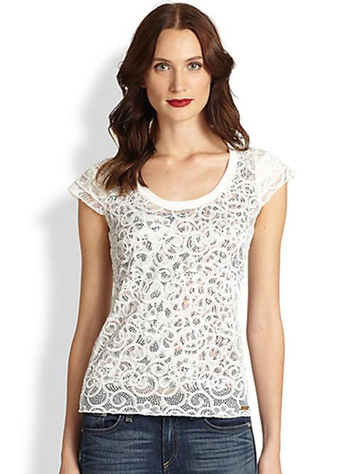 Embroidered Lace Top by Just Cavalli in The Fault In Our Stars