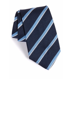 Stripe Silk Tie by Gitman in Billions