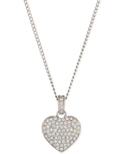 Sterling Silver Crystal and Marcasite Heart Pendant Necklace by Judith Jack in Bad Moms