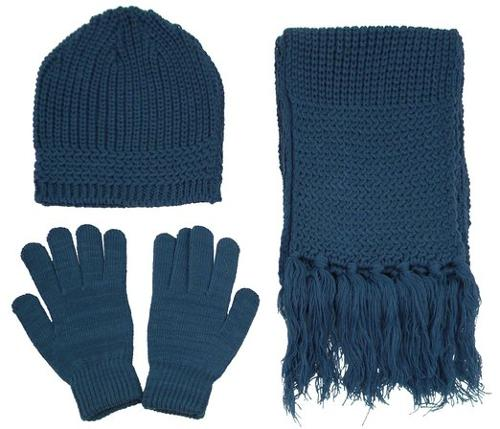 Unisex Winter Knitted Beanie/Cap/Hat Scarf Gloves by AMC in If I Stay