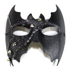 Men's Masquerade Halloween Mask by Success Creations USA in Unfinished Business