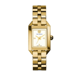 Dalloway Golden Bracelet Strap Watch by Tory Burch in The House