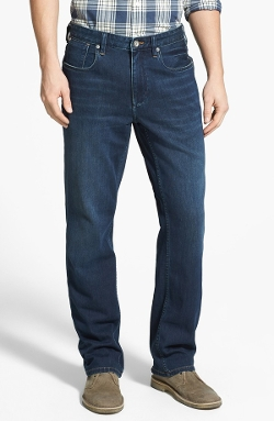 Denim 'Cooper' Straight Leg Jeans by Tommy Bahama in Dope