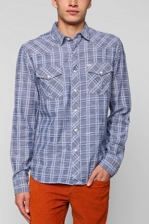 Delco Chambray Plaid Western Shirt by Salt Valley in The Big Bang Theory - Season 9 Episode 1