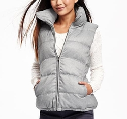 Textured Frost Free Vest by Old Navy in New Girl