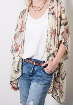 Feathered Zebra Kimono by Umgee in Fuller House