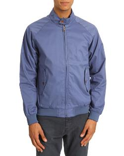 'Harri' Faded Blue Cotton Jacket by Ben Sherman in No Strings Attached