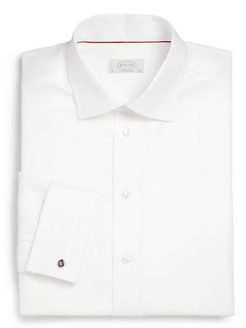 French Cuff Twill Dress Shirt by Eton of Sweden in The World is Not Enough