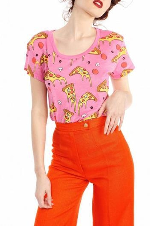 Extra-Cheese Pizza Tee by Wildfox in Pretty Little Liars - Season 6 Episode 17