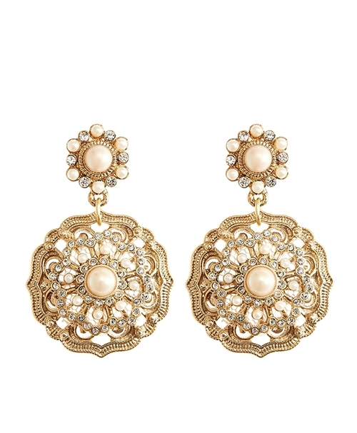 Flower Drop Earrings by Brooks Brothers in The Hundred-Foot Journey