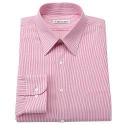 Regular-Fit Striped Wrinkle-Free Point-Collar Dress Shirt by Van Heusen in Transcendence