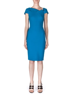 Lepas Fold-Pleated Crepe Dress by Roland Mouret	 in Suits