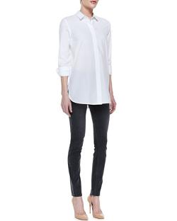 Daithi Button-Down Blouse by Theory in And So It Goes