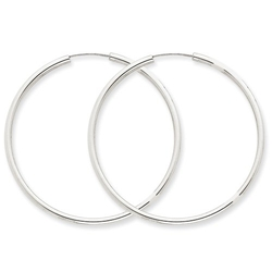 Polished Endless Hoop Earrings by US Gems in Confessions of a Shopaholic