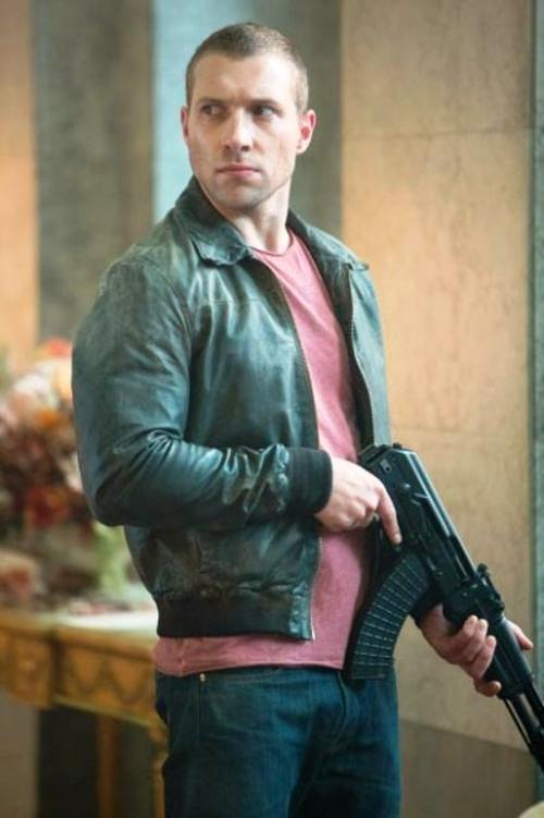 Leather Bomber Jacket (Custom for Movie) by Napsugar in A Good Day to Die Hard