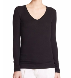 Long-Sleeve V-Neck Tee by ATM Anthony Thomas Melillo in Chelsea