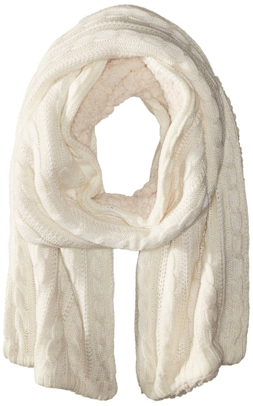 Sherpa Knit Scarf by North Point in Love Actually