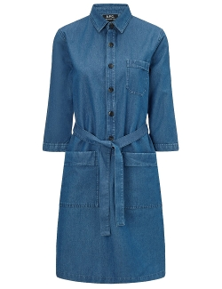 Blue Denim Belted Nancy Dress by A.P.C. in The D Train