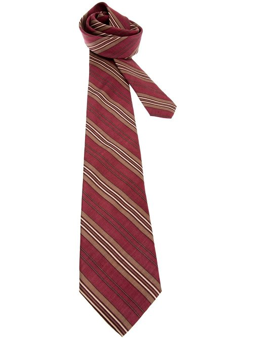 Striped Silk Tie by Yves Saint Laurent Vintage in Pitch Perfect 2