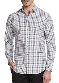 Slim-Fit Checked Sportshirt by Giorgio Armani in Ballers