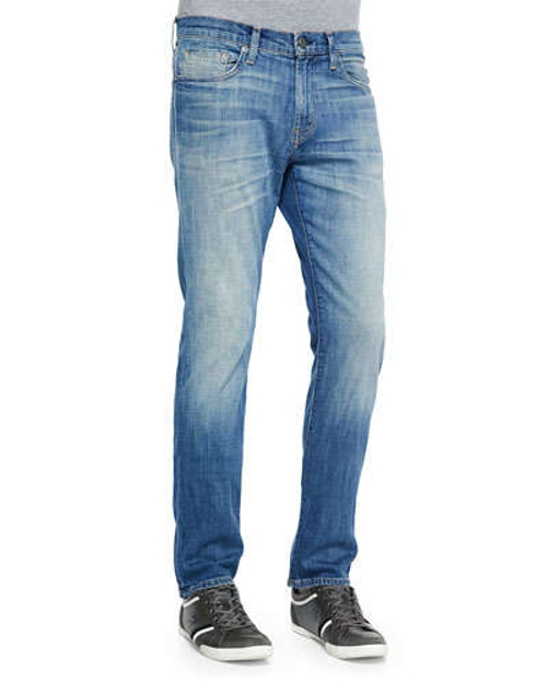 Faded Straight Denim Jeans by J Brand Jeans in Barely Lethal