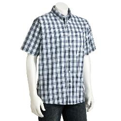Plaid Casual Button-Down Shirt by Dockers in Blended