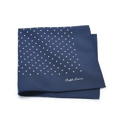 Polka-Dot Silk Pocket Square by Ralph Lauren in Fifty Shades of Grey