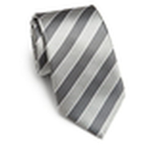 Striped Silk Tie by Saks Fifth Avenue Collection in Elementary - Season 4 Episode 6
