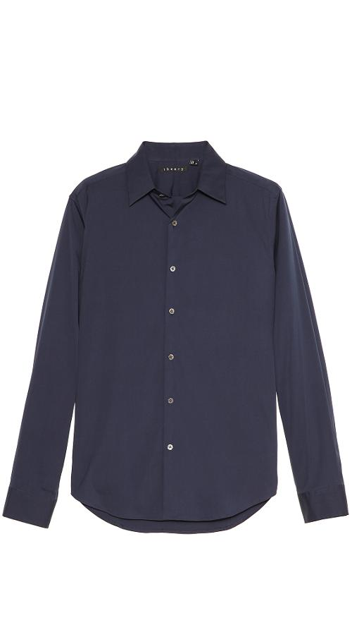 Slyvain Solid Dress Shirt by Theory in A Walk Among The Tombstones