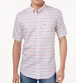 Shane Striped Shirt by Tommy Hilfiger in New Girl