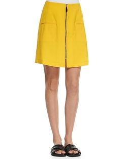 Liquid Wool Front-Zip Skirt by Risto in The Mindy Project