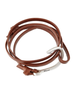 Miansai Men's Hook Leather Bracelet by Miansai in 99 Homes