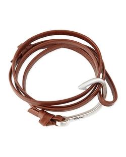 Miansai Men's Hook Leather Bracelet by Miansai in 99 Homes