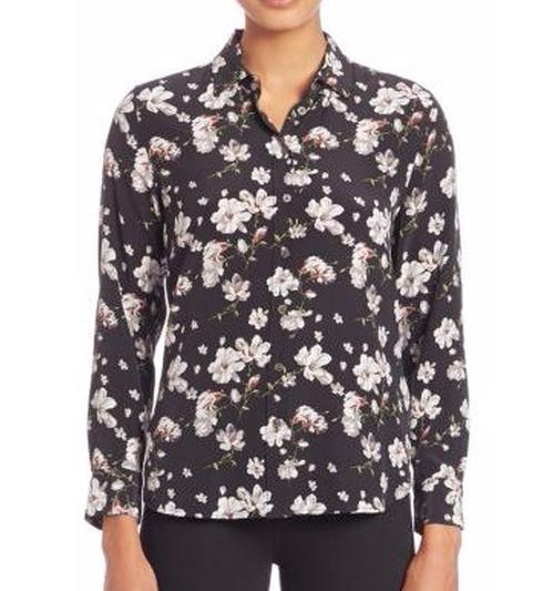 Leema Silk Floral-Print Shirt by Equipment in Quantico - Season 2 Episode 1