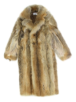 Coyote Fur Full Length Coat by Bergama in Zoolander 2