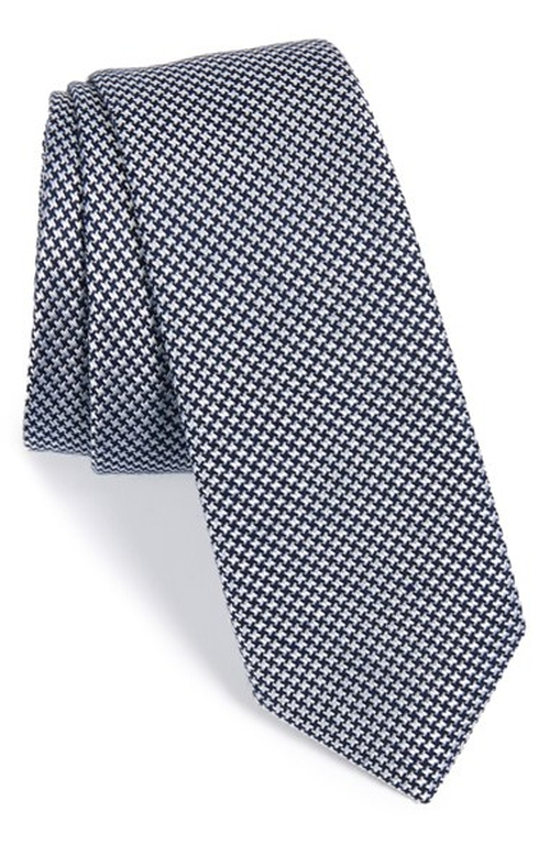 Houndstooth Silk Blend Tie by Calibrate in Suits - Season 5 Episode 1