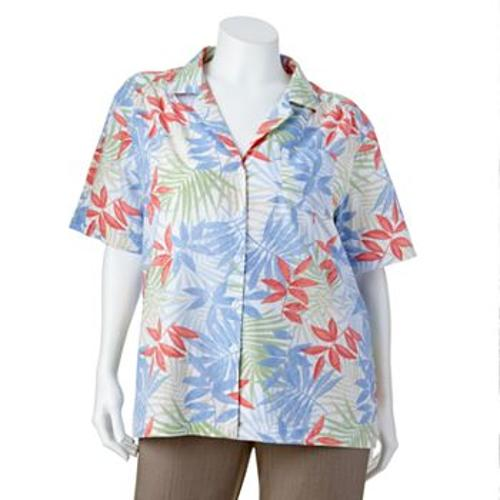 Floral Camp Shirt by Cathy Daniels in Tammy