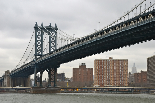 Manhattan Bridge New York City, New York in Collateral Beauty