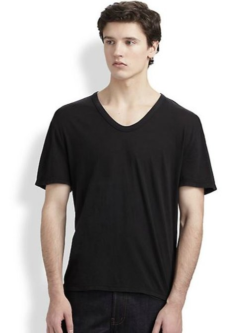 Classic Low V-Neck Tee by T by Alexander Wang in Hall Pass